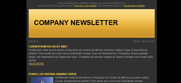 Dark Free Email Template