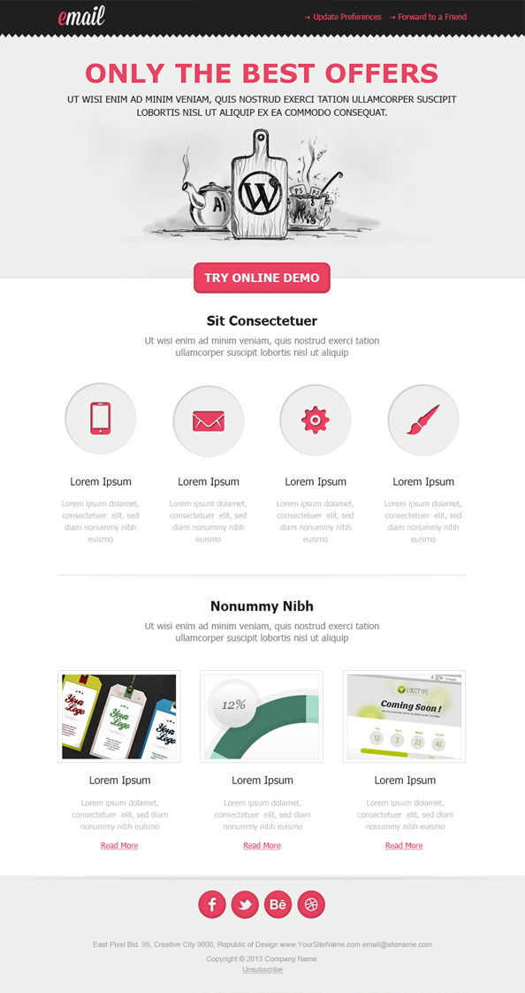 Clean Html Email Template